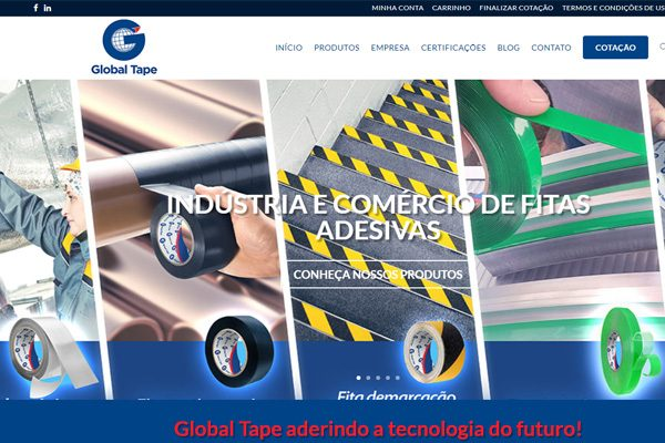 GLOBAL TAPE APRESENTA SEU NOVO WEBSITE